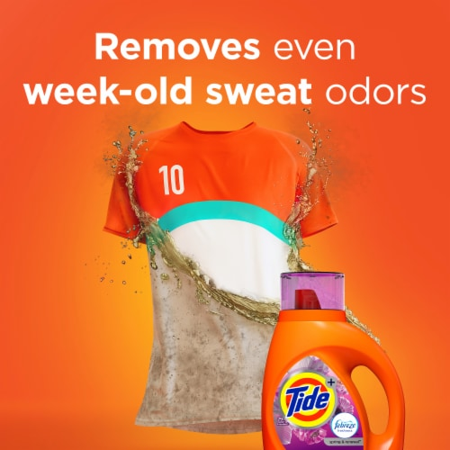Tide Plus Febreze Freshness Spring & Renewal Liquid Laundry Detergent Perspective: right