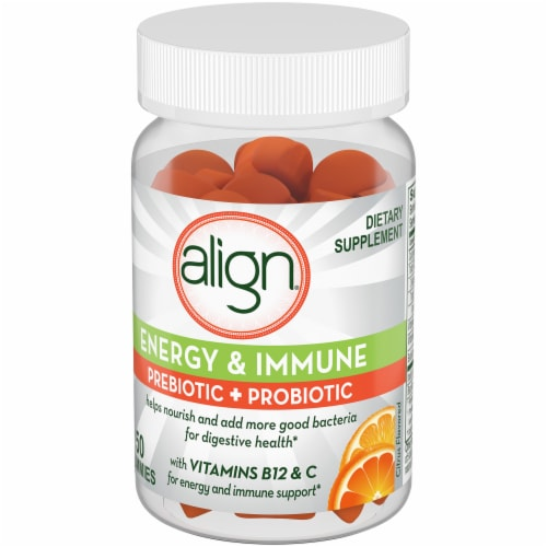 Align Gut Health & Immunity Support Probiotic & Vitamin C Gummies Perspective: right
