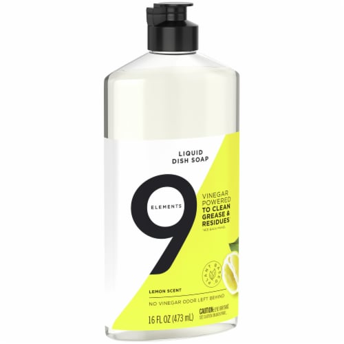 9 Elements Lemon Liquid Dish Soap Perspective: right