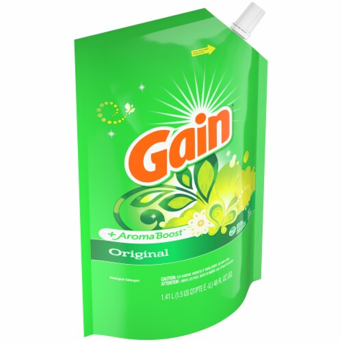 Gain Original Liquid Laundry Detergent Pouches Perspective: right