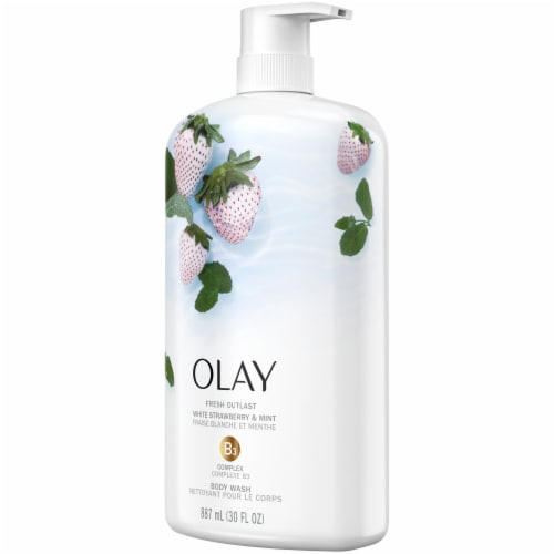 Olay Fresh Outlast White Strawberry & Mint Body Wash Perspective: right