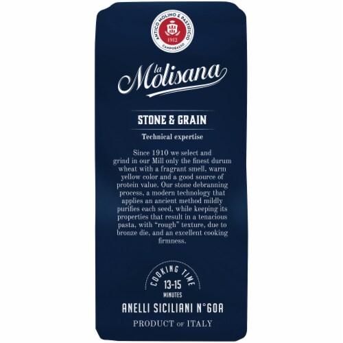 La Molisana Bronze Die Anelli Siciliani Durum Wheat Semolina Enriched Macaroni Product Perspective: right