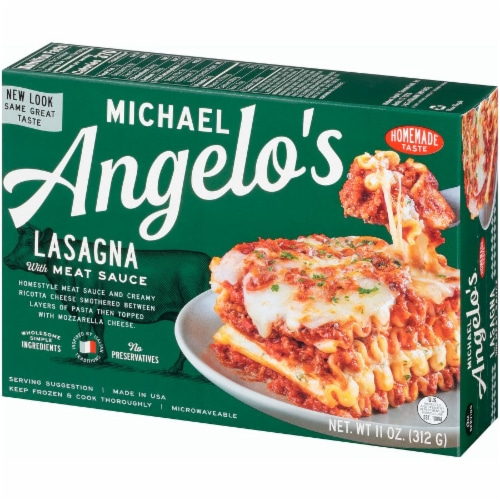 Michael Angelo's Lasagna with Meat Sauce Perspective: right