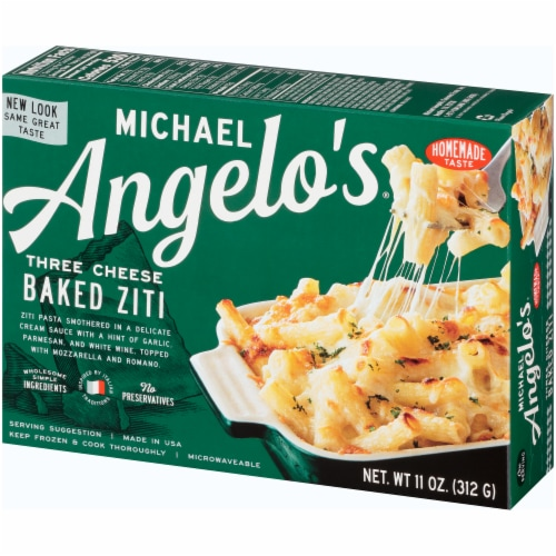 Michael Angelo's Three Cheese Baked Ziti Perspective: right