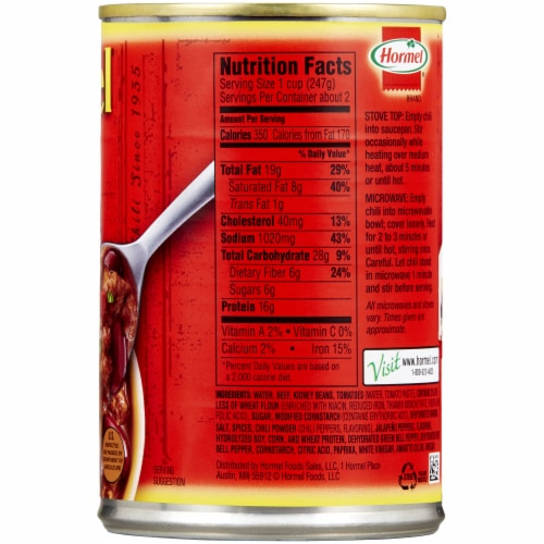 Hormel Homestyle Chili with Beans Perspective: right