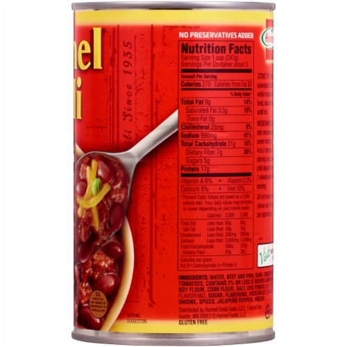 Hormel Chili with Beans Perspective: right