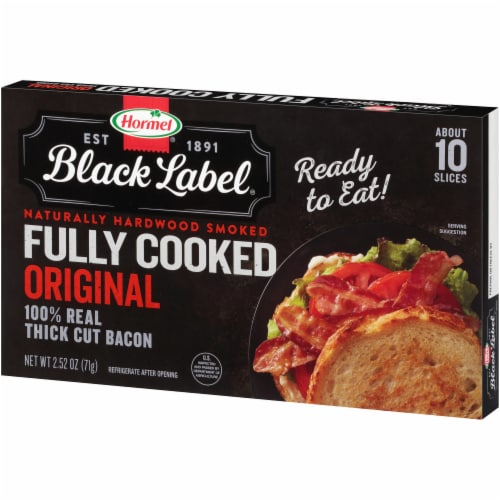 Hormel Black Label Fully Cooked Hardwood Smoked Thick Cut Bacon Perspective: right