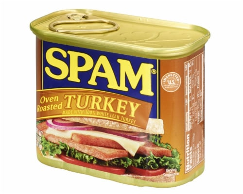 SPAM Oven Roasted Turkey Perspective: right