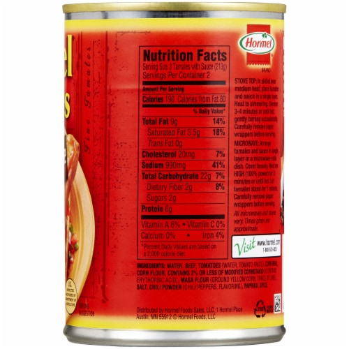 Hormel® Beef Tamales in Chili Sauce Perspective: right