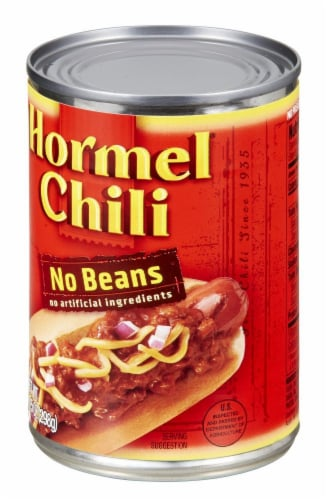Hormel Chili No Beans Perspective: right