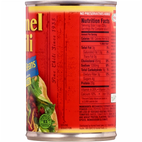 Hormel No Beans Turkey Chili Perspective: right