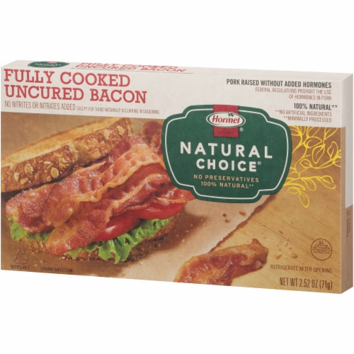 Hormel Natural Choice Fully Cooked Bacon Perspective: right