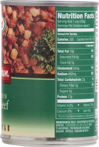 Hormel Mary Kitchen Reduced Sodium Corned Beef Hash Perspective: right