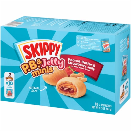 Skippy PB & Strawberry Jelly Minis Perspective: right