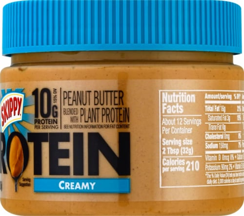 Skippy Boosted Added Protein Peanut Butter Perspective: right