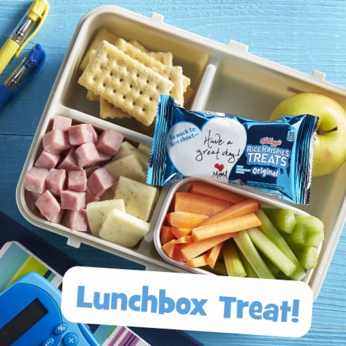 Kellogg's Rice Krispies Treats Marshmallow Squares Bars Original Perspective: right