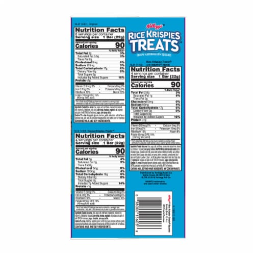Rice Krispies Treats M&Ms Cocoa & Original Marshmallow Square Bars Variety Pack 16 Count Perspective: right