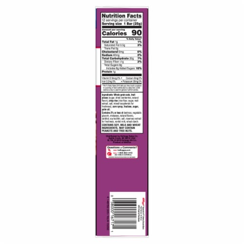 Kellogg's Special K Red Berries Chewy Snack Bars 12 Count Perspective: right