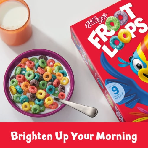 Froot Loops Cereal Family Size Perspective: right