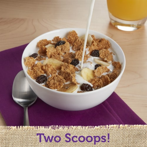 Kellogg's Raisin Bran Breakfast Cereal with Bananas Perspective: right