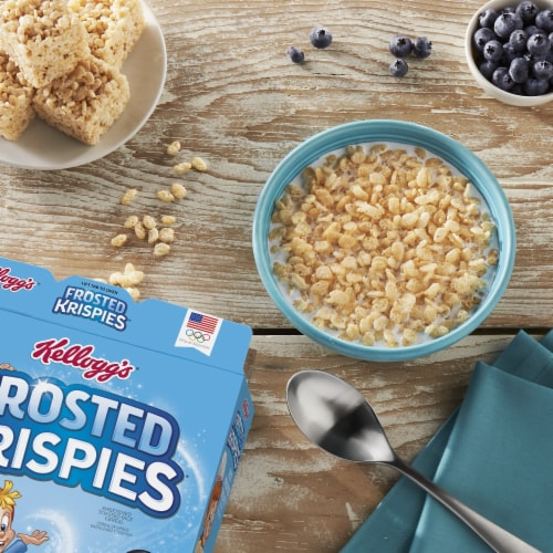 Kellogg's Frosted Krispies Breakfast Cereal Perspective: right