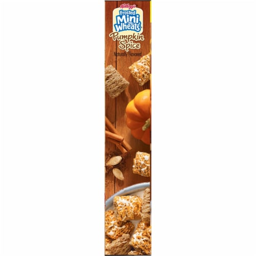 Kellogg's Pumpkin Spice Mini-Wheats Cereal Perspective: right