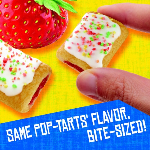 Kellogg's Pop-Tarts Filled Pastry Bites Frosted Strawberry Perspective: right