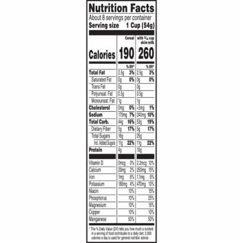 Kellogg's Raisin Bran Breakfast Cereal Vanilla Almond Perspective: right