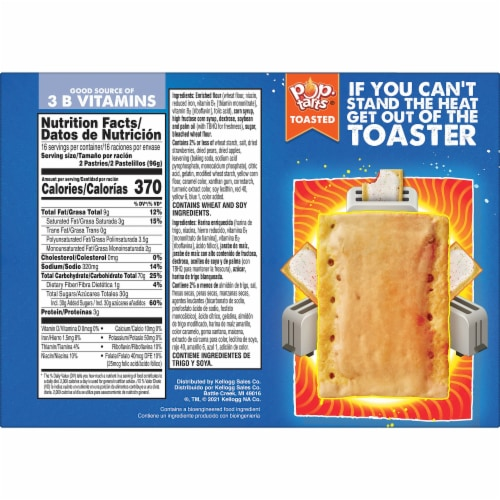 Pop-Tarts Frosted Strawberry Toaster Pastries Perspective: right