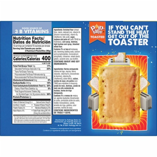 Pop-Tarts Frosted Brown Sugar Cinnamon Toaster Pastries Perspective: right
