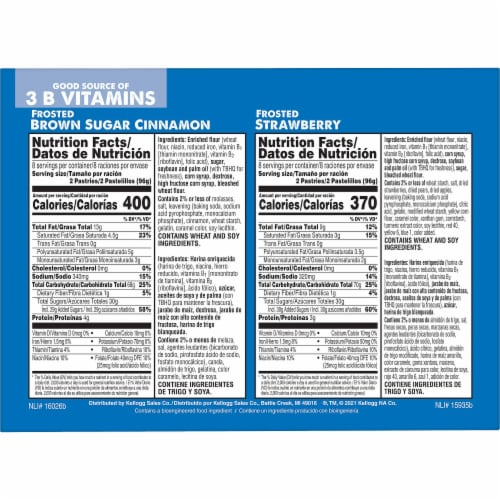 Pop-Tarts Frosted Brown Sugar Cinnamon & Frosted Strawberry Toaster Pastries Perspective: right