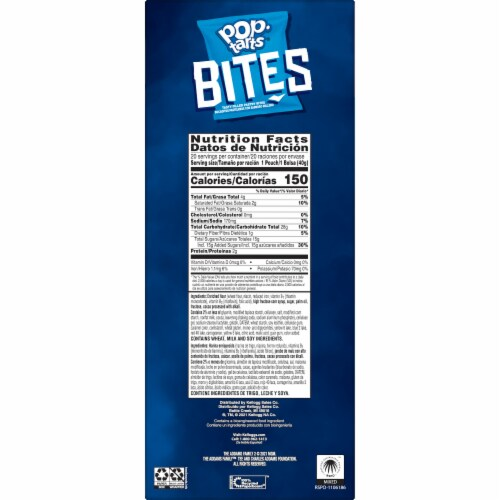 Pop-Tarts Frosted Kooky Chocolatey Fudge Filled Pastry Bites Perspective: right