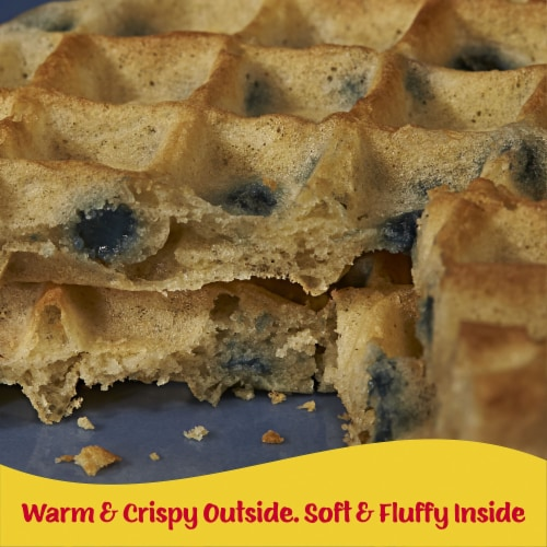 Eggo Frozen Breakfast Waffles Blueberry Family Pack Perspective: right