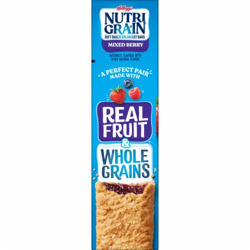 Kellogg's Nutri-Grain Soft Baked Breakfast Bars Mixed Berry Perspective: right