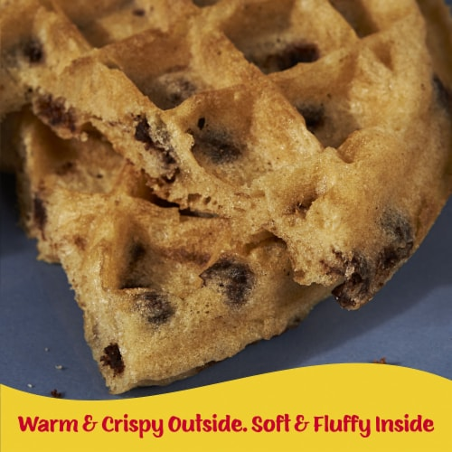 Kellogg's Eggo Chocolatey Chip Frozen Waffles Perspective: right