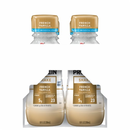 Special K French Vanilla Protein Shakes 4 Bottles Perspective: right