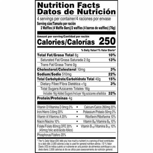 Kellogg's Eggo Wafflers Frozen Breakfast Waffles Brown Sugar Cinnamon Roll Perspective: right