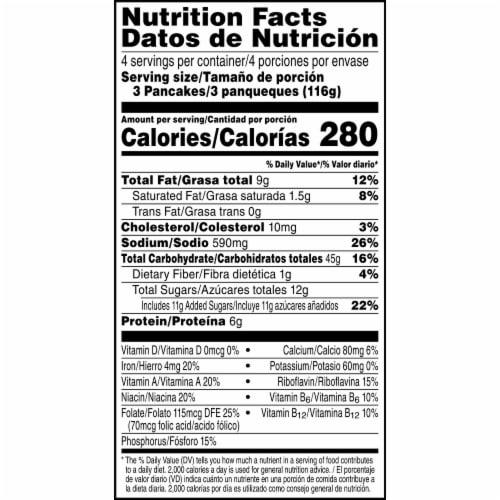 Kellogg's Eggo Frozen Breakfast Pancakes Buttermilk Perspective: right
