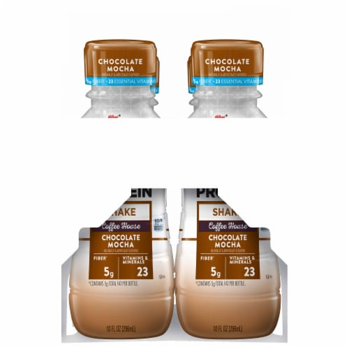 Special K Chocolate Mocha Protein Shakes 4 Bottles Perspective: right
