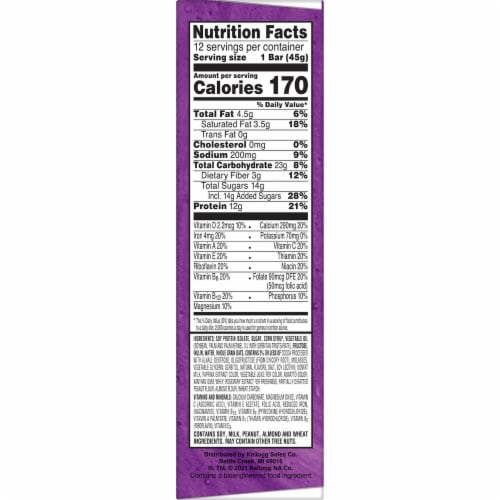 Kellogg's Special K Chocolate Caramel Protein Meal Bars 12 Count Perspective: right