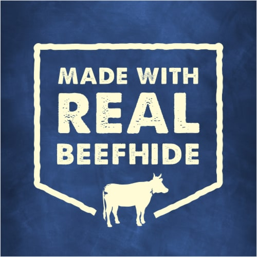 Busy Bone Rib Hide Dog Treats Perspective: right