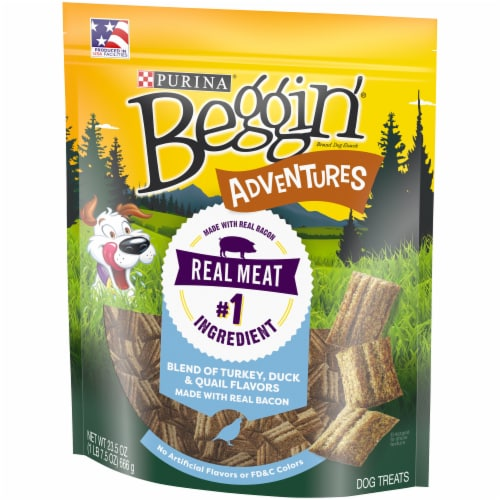 Beggin' Adventure Turkey Duck & Quail Flavored Dog Treats Perspective: right