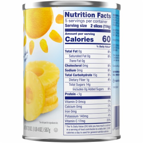 Dole® Pineapple Slices in 100% Pineapple Juice Perspective: right