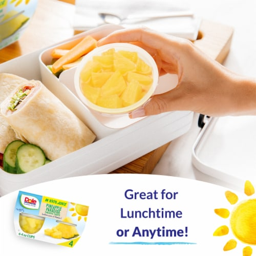 Dole Pineapple Tidbits in 100% Pineapple Juice Perspective: right
