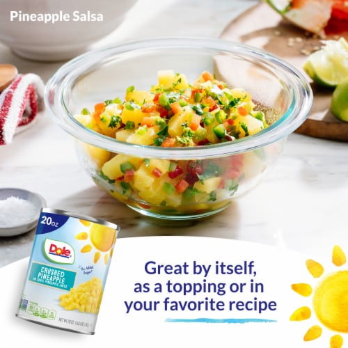 Dole Canned Crushed Pineapple in 100% Pineapple Juice Perspective: right