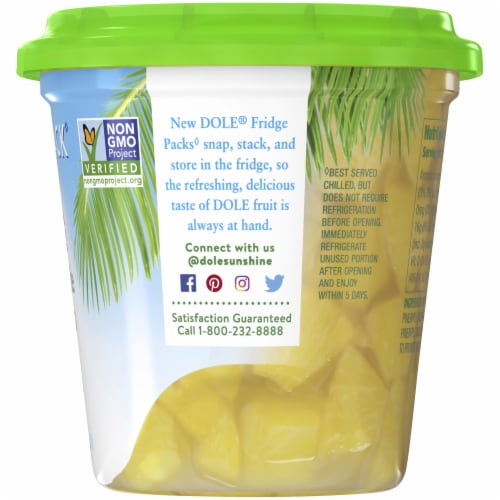 Dole Fridge Pack Pineapple Chunks in 100% Pineapple Juice Perspective: right