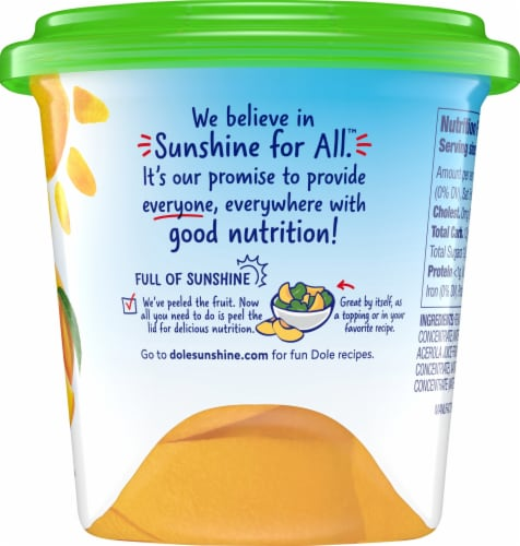 Dole Fridge Pack Yellow Cling Peaches in 100% Fruit Juice Perspective: right
