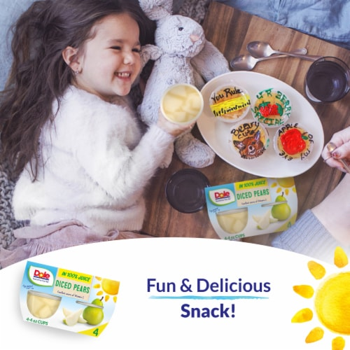 Dole Diced Pears in 100% Fruit Juice Cups Perspective: right