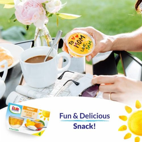 Dole Peaches & Creme Parfait Cups Perspective: right