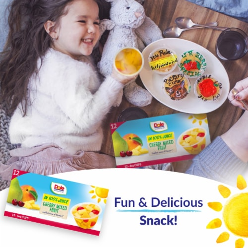 Dole® Cherry Mixed Fruit in 100% Fruit Juice Cups Perspective: right